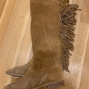 Aldo size 6.5 over the knee suede boots